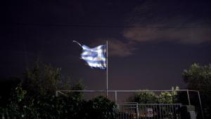 Flaga Grecji w Atenach