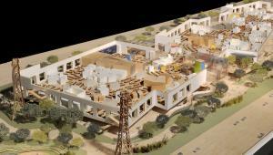 Projekt nowej siedziby Facebooka w zachodnim kampusie Menlo Park w Kalifornii wykonany przez  Franka Gehryego