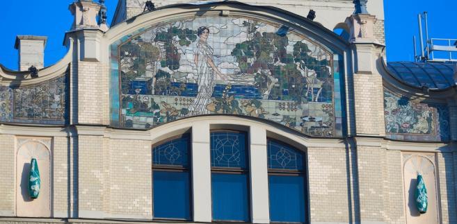 Mozaika na moskiewskim hotelu Metropol